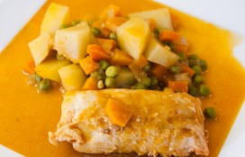 Kabeljauwstoofpotje met groenten en aardappelen