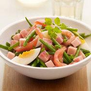 Salade van garnalen met boontjes