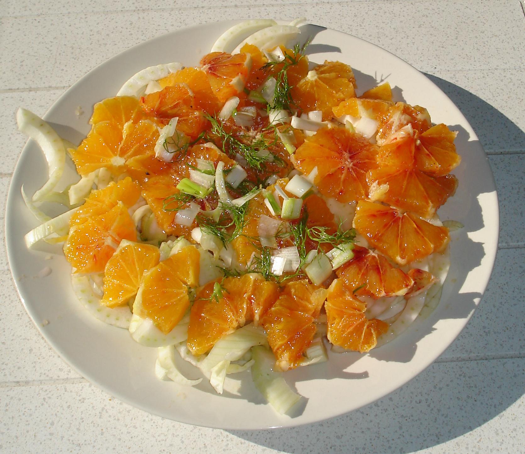 Sinaasappel – venkel salade