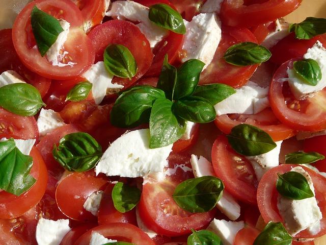 Tomaatjes met mozarella