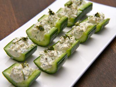 Borrelhapjes met komkommer