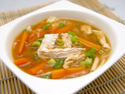 Misosoep met kip en rijst