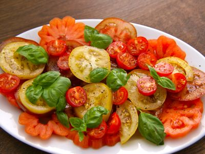 Bonte tomatensalade