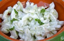 Salade met komkommer