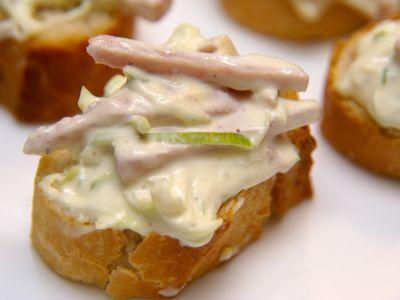 Ham prei salade maken