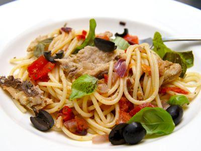 Spaghetti met sardines