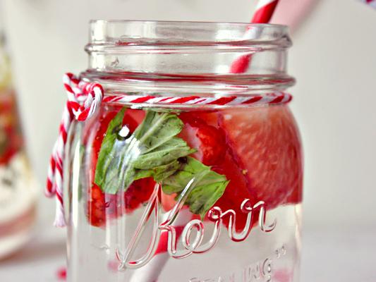 Aardbeien water
