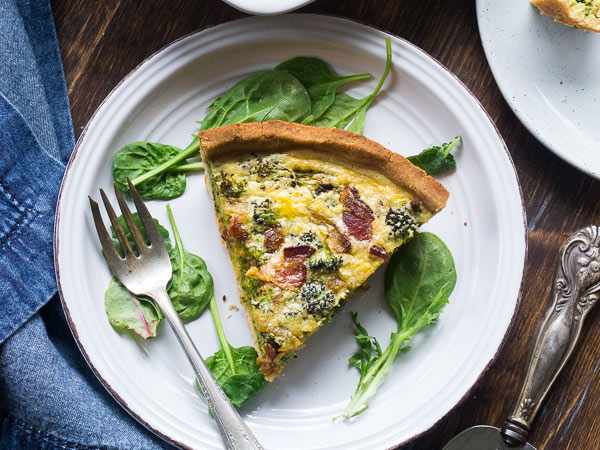 Broccoli – bacon quiche (paleo)