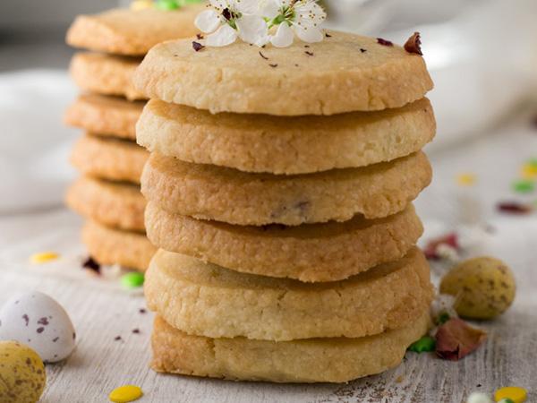Vegan shortbread koekjes
