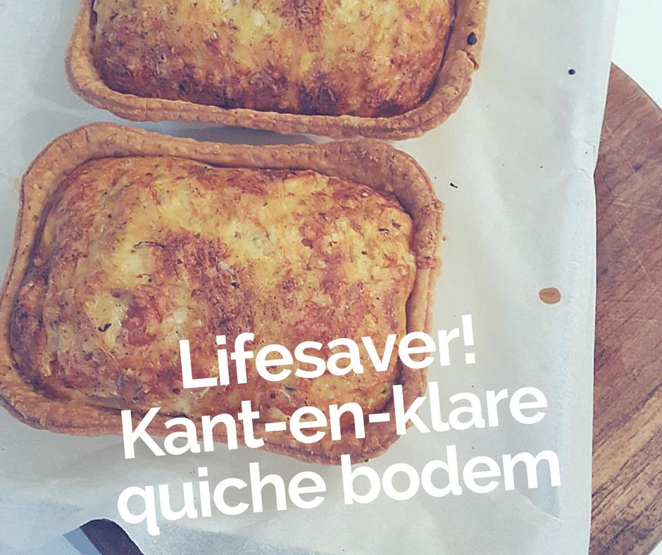 Lifesaver! Kant-en-klare quiche bodem