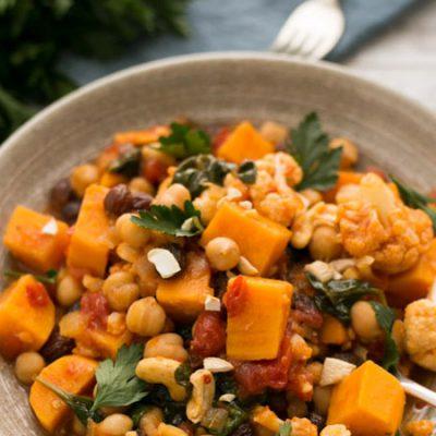 zoete aardappel kikkererwten curry - recept