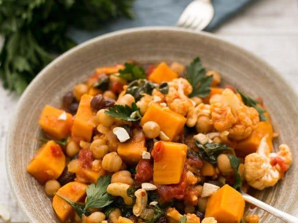 zoete aardappel kikkererwten curry - recept - kookse.tv