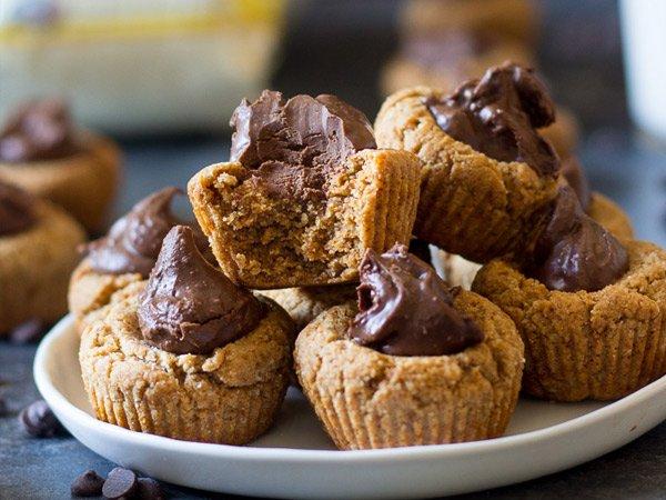 Chocolade amandel cupcakes